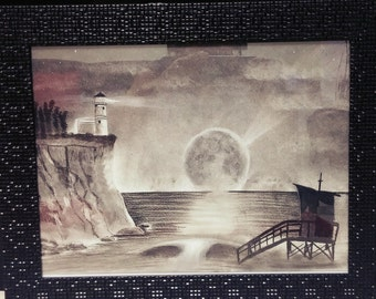 Lighthouse.. Charcoal Drawing