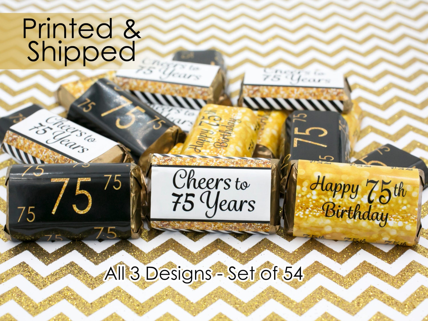 75th birthday party decorations gold black by distinctivs for 75th birthday decoration