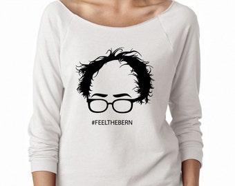 Bernie Sanders for President 2016 Terry Raw Raglan -  Women's Raglan - Feel the Bern Raglan