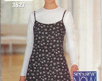 See & Sew 3827 Spagetti Strap Vintage Dress Pattern Circa 1994 - Size  6 , 8, 10