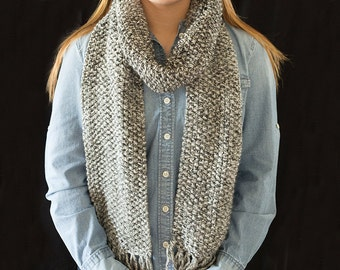 Seed Stitch Neck Scarf