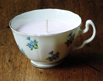 Sweet Dreams Vintage Teacup Candle