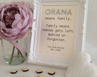 Framed Typography Embellished Quote - Disney I
