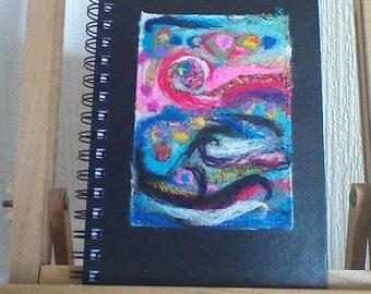 A5 needlefelt abstract sketchpad