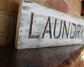 Rustic Laundry Sign Laundry Sign Set Laundry Room Decor Laundry Room Decor