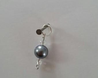 "Gray ""pearl"" charm"