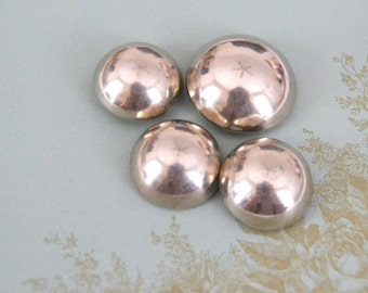 Vintage Silver Metal Dome Style Buttons with Tunnel Shank Backs