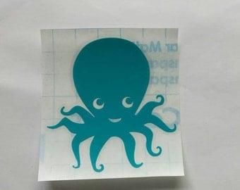 Octopus Car Decal, Octopus Decal, Octopus Vinyl Decal, Ocean Decal, Octopus Tablet Decal, Sea Life Decal, Ocean Life Decal, Laptop Decal