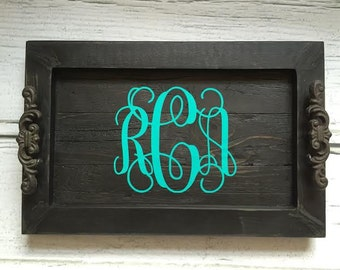 Personalized Decorative Serving Tray- Monogram