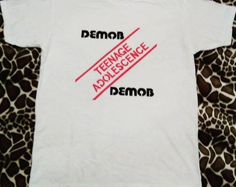 Demob punk t-shirt handemade teenage adolescence