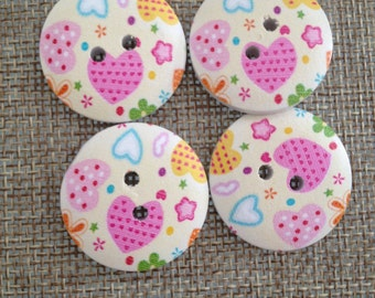 colored wooden buttons