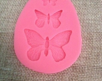 silicon mold with butterfly