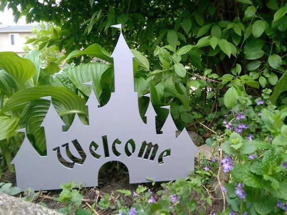 Disney Castle Inspired Welcome Sign Metal By