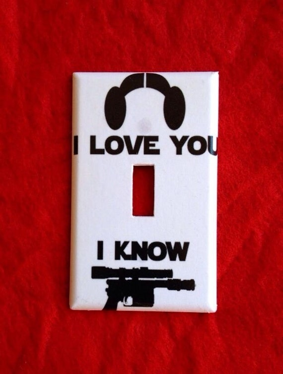 Star Wars I Love You I Know Light Switch Cover Plate Home Room