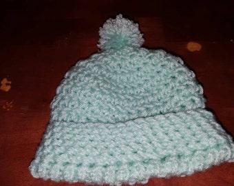 Newborn pompom hat