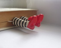 Unique bookmarks, metal bookmark, gift for a bookworm, wizard of oz bookmark, cute bookmarks, book marks, wicked witch bookmark, bookmark