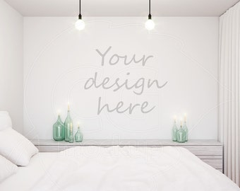 Styled stock, Blank wall mockup, Wall decal, Stencil template, Mockups, Wall stickers, Bedroom art, Wall decor, Digital product mock up