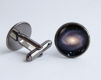 Nebula cufflinks Spiral galaxy cufflinks Cosmos jewelry Solar system cuff links Astronomy cufflinks Gift for husband Universe jewelry Galaxy
