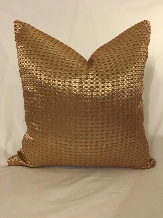 Gold Metallic Decorative Pillow Cover