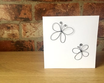 Butterfly Wire Greeting Card
