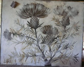 "Lee Reynolds painting ""Thistles"""