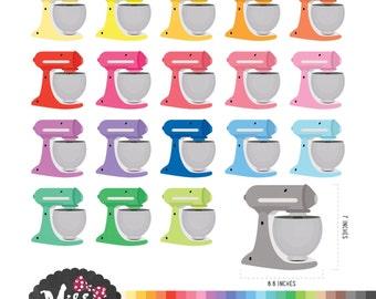 30 Colors Mixer Clipart - Instant Download