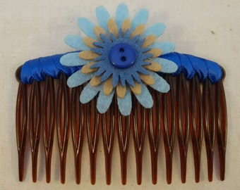 Felt & Ribbon Hair Comb