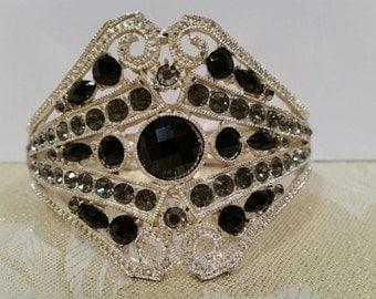Vintage Rhinestone Cuff Bracelet  (LP132)