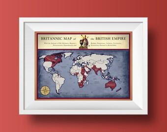 Map Poster Print - British Empire