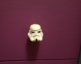 Stormtrooper Star Wars Knob for Dressers, Drawers & Closets, Cabinets