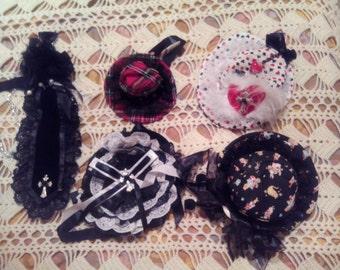 Pack visual kei, punk, gothic lolita, kera, corset, punk rave, hiderock peticoat