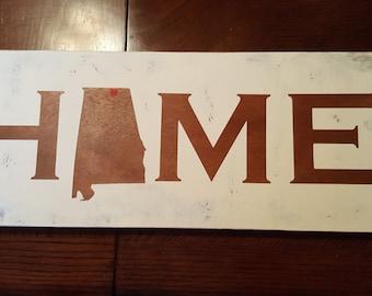 Home Alabama (Huntsville) Wooden Sign