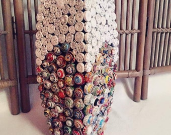 Vase made of recycled paper