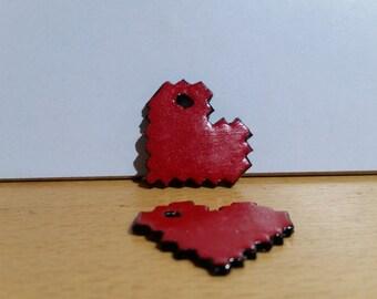 Pixel Heart Necklace