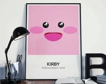 Kirby Portrait Fan Art Illustration Poster Print