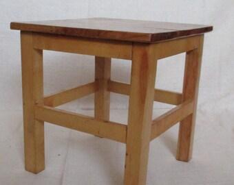 Rustic wooden stool, handmade stool, children's stool, Sitting Stool, Standing Stool, household Stool, kids stool, step stool