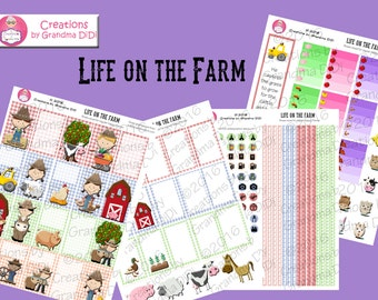 Top Seller! Life on the Farm Classic Happy Planner Printable Sticker Set