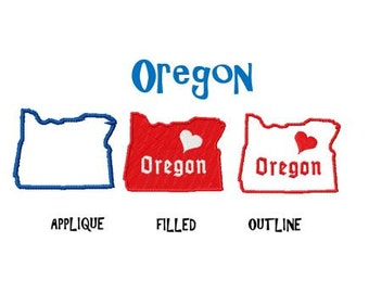 Oregon state map Etsy