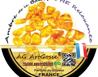 AG natural scented candle wax ARTGOSSE amber