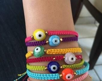 Woven eye bracelets