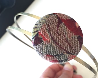 Antique vintage button double headband