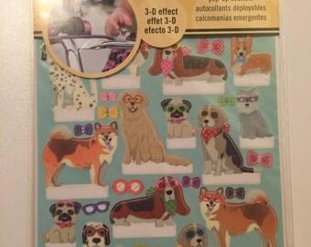 Dog Pop-Up Sticker Set