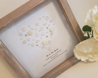 Personalised Wedding Frame, Perfect Wedding Gift, Mr & Mrs Gift