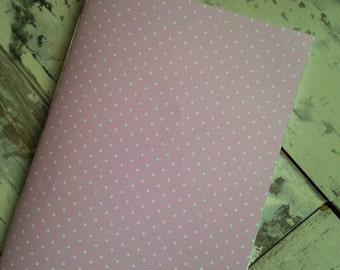 A5 polka dot notebook // blank notebook // sketchbook // girly notebook // notepad