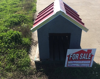 Deluxe Concrete Dog House
