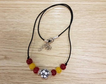 Handmade Spain Soccer Necklace