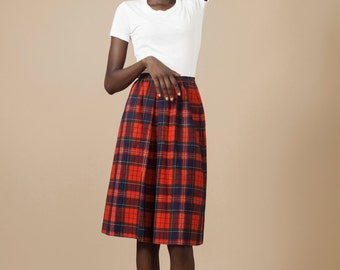 Pendleton tartan plaid skirt