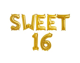 SWEET 16 Balloon Banner