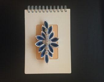 3D Handcrafted Gem Flower Spiral Notebook/Journal