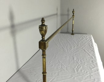 Victorian style distressed brass rail